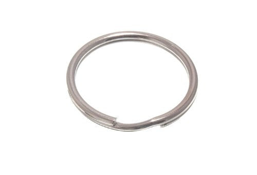 Split Key Rings 32Mm 1 1/4 Inch Nickel Plated Steel Pack Of 10
