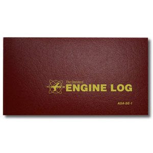 ASA Engine Logbook (Burgundy, Soft cover)