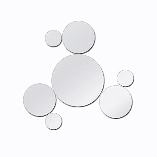 Combination of Life Peel & Stick Acrylic Mirror Circle Style Mural Art Wall Sticker Decals (Set of 7)