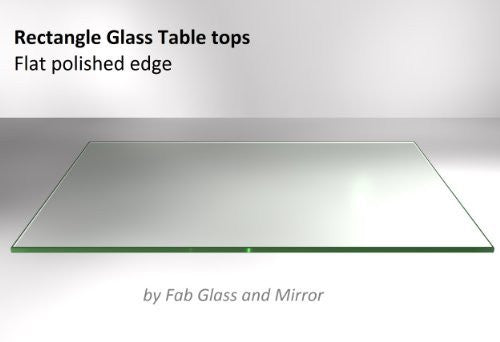 "Fab Glass and Mirror 36x72RECT6THFLTE-T Rectangle Glass, 1/4"" Thick Flat Edge Tempered Eased Corners, 36"" L x 72"" W"