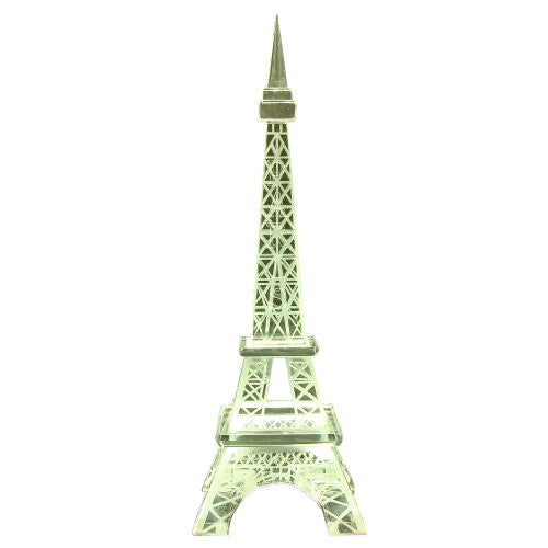 Souvenirs of France - Glass Eiffel Tower Statue - Height 5.70in - 14.5cm