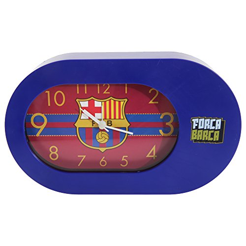 FC Barcelona Official Football Frame Table Alarm Clock (One Size) (Blue)