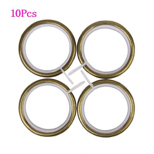 SODIAL(R)10Pcs Metal Curtain Rings for Plose Under 35mm - Bronze