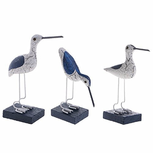Kocome Wooden Navy Seabirds Mediterranean Style Sculpture Home Decoration Craft
