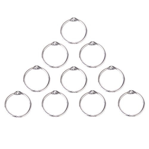 10x Hinged Rings for Scrapbooks Albums - 45mm
