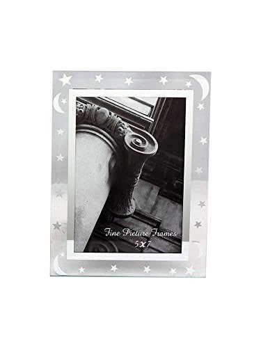 5x7 Glass Picture Frame Stars And Moons