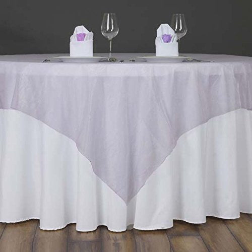 "Lavender Organza Table Overlay 60""x60"" (Table Toppers)"