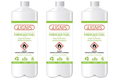 Ignis Bio Ethanol Fireplace Fuel - 3 Pack