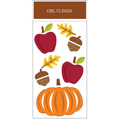 Impact Innovations Fall Acorns & Apples Window Gel Clings, 5.5 x 12