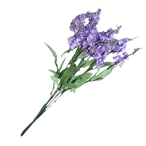Efaster Elegant 10 Artificial Flowers Flower Head Simulation Lavender Flowers (Light Purple)