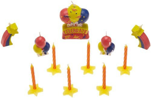 Wilton Primary Colors Candle Set, 17 Count