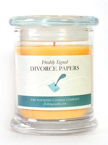 Flick Candles Freshly signed Divorce Papers