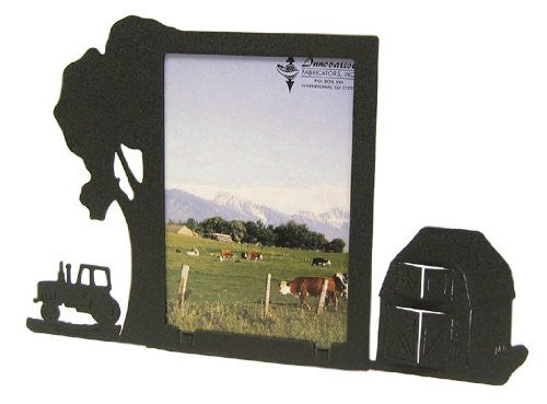 Farm Site Tractor & Barn 3X5 Vertical Picture Frame