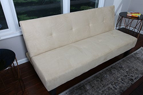 Home Life Beige Microfiber With Adjustable Back Klik Klak Sofa Futon Bed Sleeper Convertible