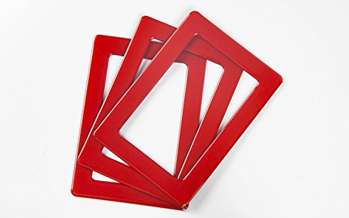 "Merkapa Pack of 3 Crystal Magnetic Photo Frame 6"" Magic Picture Frame Picture Wall (Red)"