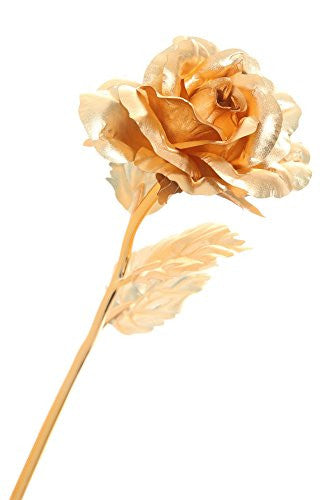 "DuraRose® 24k Gold Foil Rose With ""LOVE CARD"" - Best Gift For Loves Ones. Ideal For Valentine's Day, Mother's Day, Anniversary, Birthday"