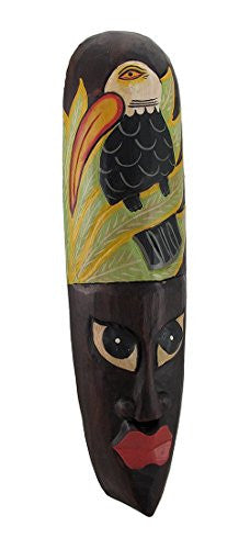 African Jungle Toucan Mask Wall Hanging Africa Decor