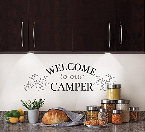Brewster Welcome Leaves Wall Decal Quote
