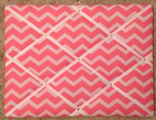 Pink Tonal with White Ribbon French/memo Board