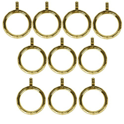 10pcs Curtain Rod Rings with Eyelet Golden Color