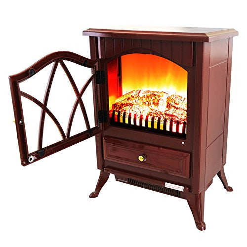AKDY 16 Inch AK OS18D2P RED Free Standing Electric Fireplace Indoor Heater