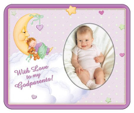 With Love to My Godparents-Girl Photo Magnet Frame