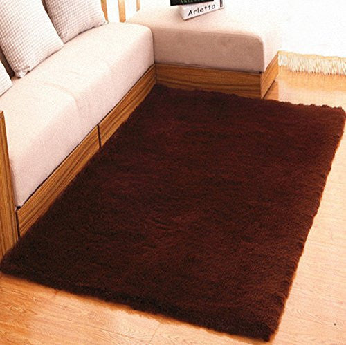 Prettyrug Ultra Soft 4.5 CM Thick Indoor Morden Area Rugs Pads for [Bedroom] [Livingroom] [Sitting-room] [Rugs] [Blanket] [Footcloth] [Blanket] [Footcloth] [Blanket] [Footcloth] (coffee, 40*60cm)