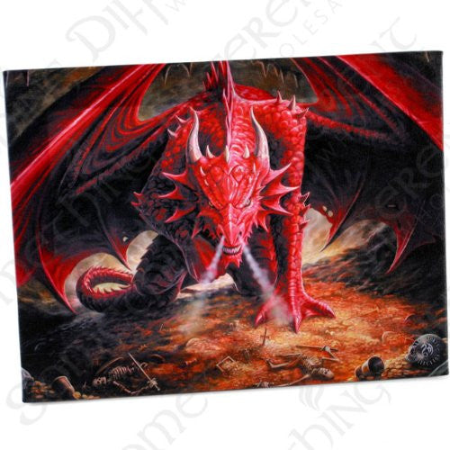Anne Stokes Design Dragons Lair Canvas Fantasy Art Wall Plaque