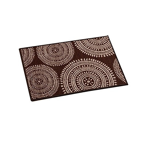 "Kennedy Medallion Accent Rug, Brown, 20"" X 30"""