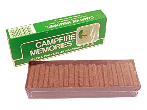 ORIGINAL Campfire Memories Incense 45 Sticks Refill Made in Montana USA Log Cabin Fragrance Logs!