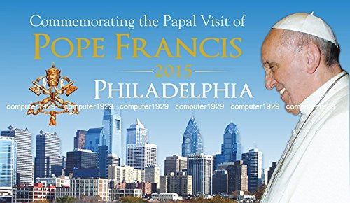 Commemorating the Papal visit of Pope Francis Philadelphia 2015 rectangle photo magnet