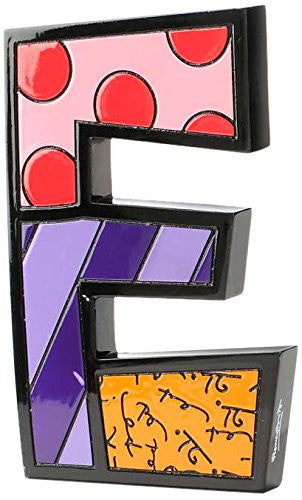 Gift Craft Romero Britto Polyresin Table Topper, Letter E