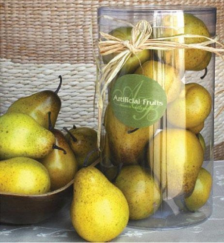 Artificial fruit delivered decor for Artificial pears decoration