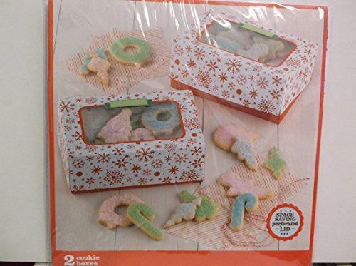 Sweet Creations 2 See-thru Cookie Boxes *Snowflakes*