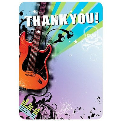 Rock Star Thank You Cards