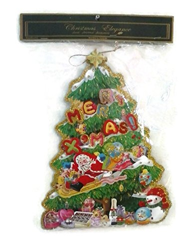 Christmas Elegance Classic Christmas Tree Merry XMasWindow Decorations by Country Silk