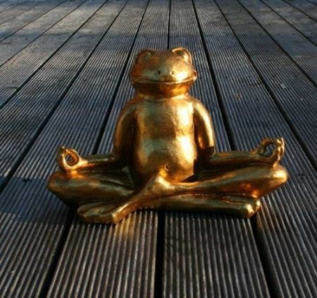 Vamundo Good Luck Frog In Lotus Meditation Pose Yoga Feng Shui Gold