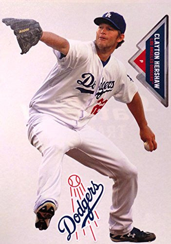 "Clayton Kershaw Mini FATHEAD + Los Angeles Dodgers Logo + Bonus Graphic, Total of 3 Official MLB Vinyl Wall Graphics 7"" INCH"