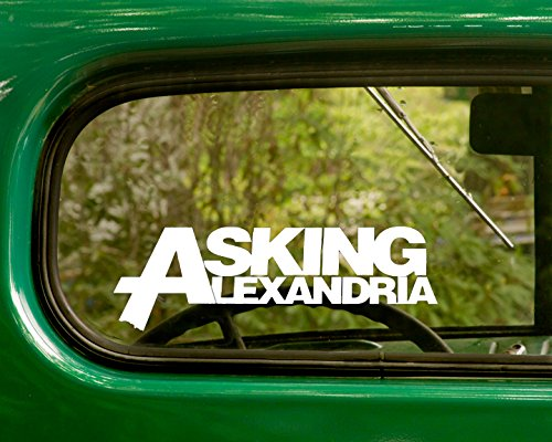 2 ASKING ALEXANDRIA Decal Rock Band Stickers White Die Cut For Window Car Jeep 4x4 Truck Laptop Bumper Rv