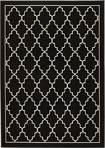 "NEW CHATEAU #6 BLACK TRELLIS CONTEMPORARY STYLE AREA RUG AVAILABLE IN APROX SIZE 2X3 ,5X7 ,8X11 (2"" X 3"" ACTUAL IS 22"" X 35"")"