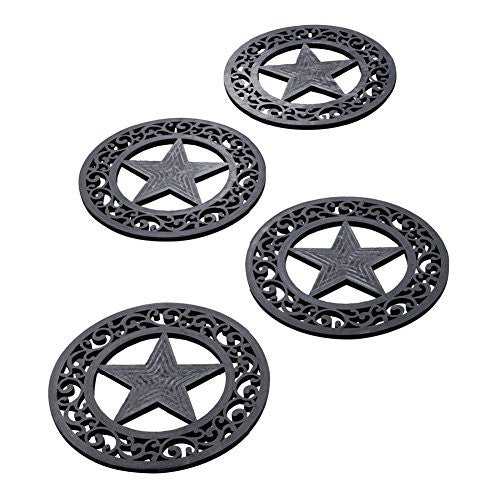 Rubber Star Stepping Stones - Set of 4