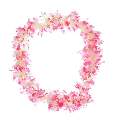 Generic Beach Hawaiian Summer Fancy Dress Hula Flower Lei Wristband Necklace Garland