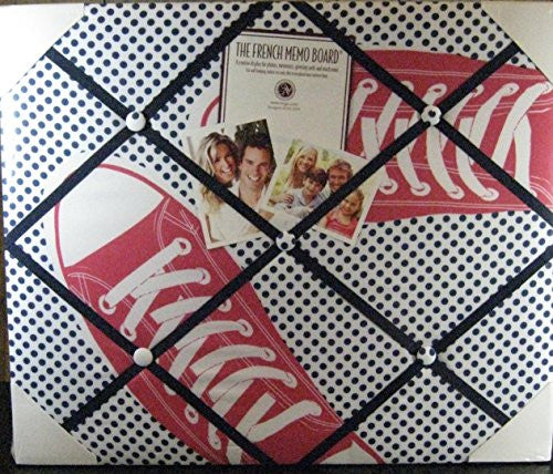 The French Memo Board-a Creative Display for Photos, Mementos, Greeting Cards and Much More-Pink Sneakers- Factory Sealed