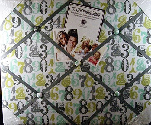 "The French Memo Board-a Creative Display for Photos, Mementos, Greeting Cards and Much More-""Numbers""- Factory Sealed"