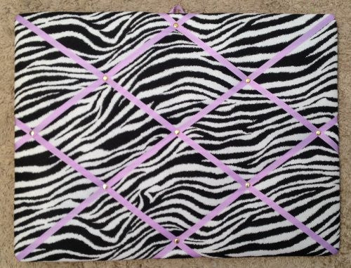Zebra with Light Orchid Ribbon French/memo Board