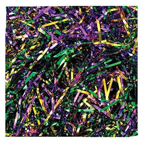 Mardi Gras Purple Green Gold Metallic Shred