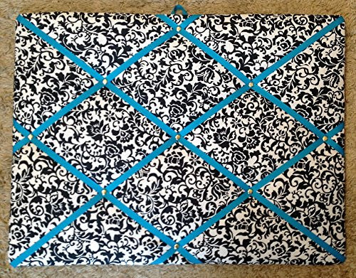 Damask Scroll Turquoise Ribbon French/memo Board