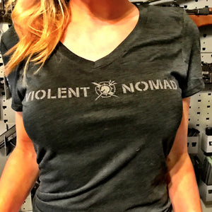 LADIES' VIOLENT NOMAD V-NECK T-SHIRT