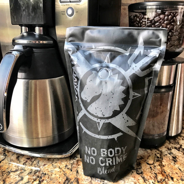 "Violent Nomad ""No Body No Crime"" Coffee"