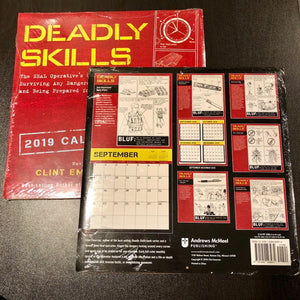 DEADLY SKILLS 2019 WALL CALENDAR